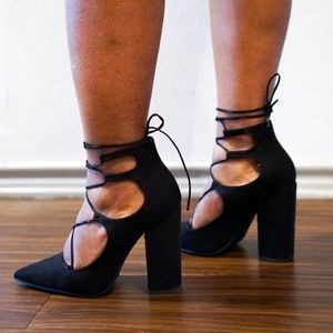 ASOS Pointed Toe Lace Up Heels US 7 - Worn Once